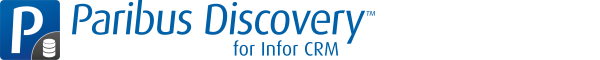 Data De-Duplication with Infor CRM (was Saleslogix) with QGate Paribus Discovery